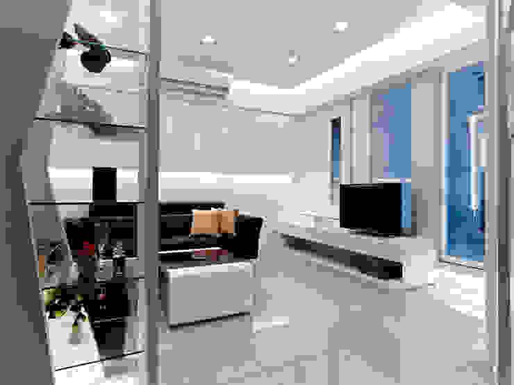 小坪數時尚精品屋 现代客厅設計點子、靈感 & 圖片 根據 瓦悅設計有限公司 現代風