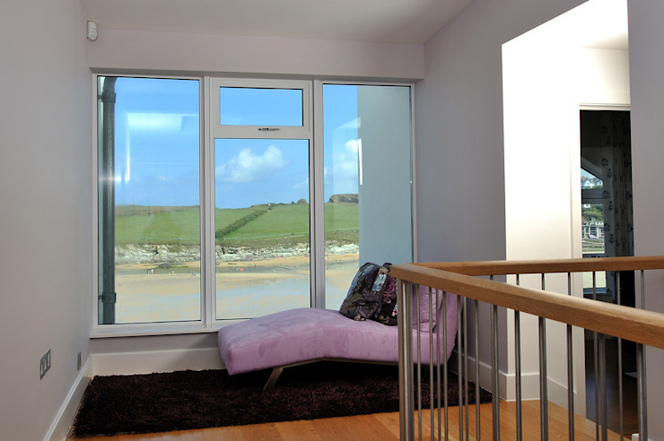 Sea House, Porth | Cornwall Perfect Stays Eclectic style corridor, hallway & stairs