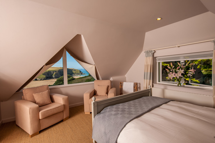 Headlands, Mawgan Porth | Cornwall Camera da letto eclettica di Perfect Stays Eclettico