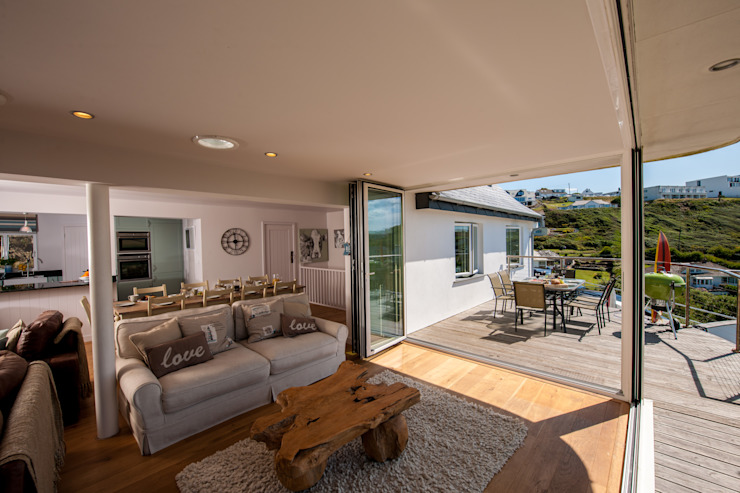 Headlands, Mawgan Porth | Cornwall Soggiorno eclettico di Perfect Stays Eclettico