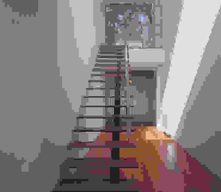 Pasillos, vestíbulos y escaleras minimalistas de Pedro Mendes Arquitectos Minimalista