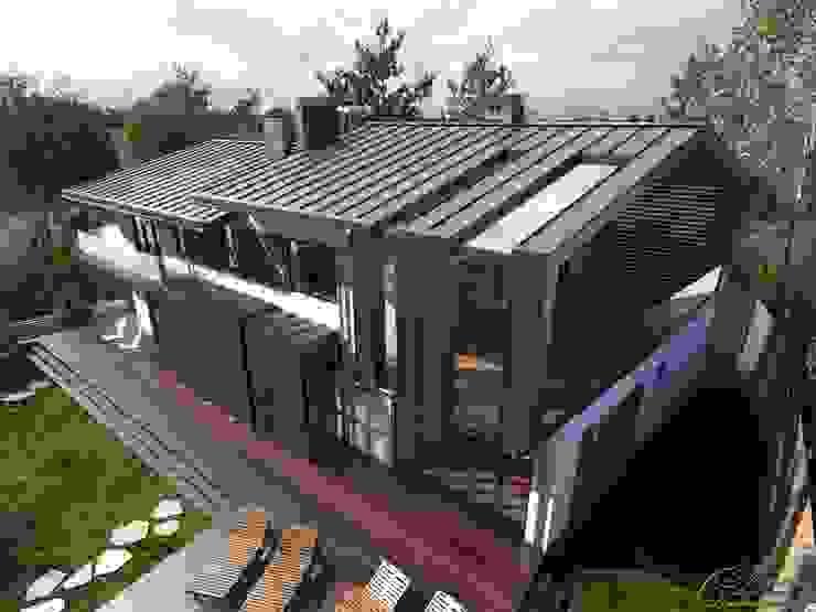 Дом на берегу озера Увильды Дома в стиле минимализм от Компания архитекторов Латышевых 'Мечты сбываются' Минимализм