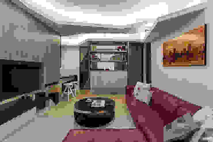 客廳 现代客厅設計點子、靈感 & 圖片 根據 Green Leaf Interior青葉室內設計 現代風