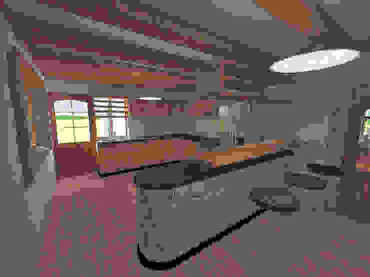 Cocina Cocinas de estilo rústico de ROQA.7 ARQUITECTURA Y PAISAJE Rústico Madera Acabado en madera