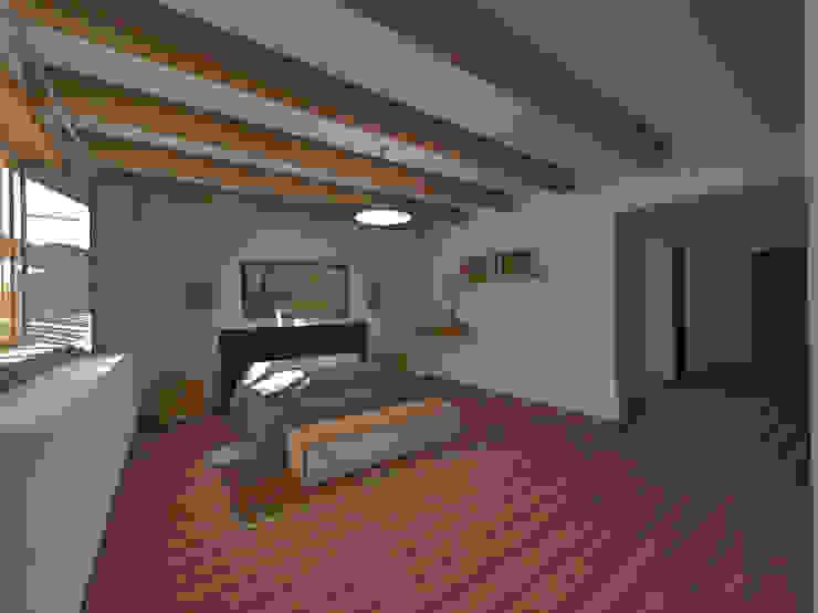 Dormitorio Dormitorios de estilo rústico de ROQA.7 ARQUITECTURA Y PAISAJE Rústico Madera Acabado en madera