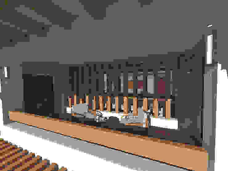 Terraza Balcones y terrazas rústicos de ROQA.7 ARQUITECTURA Y PAISAJE Rústico Madera Acabado en madera