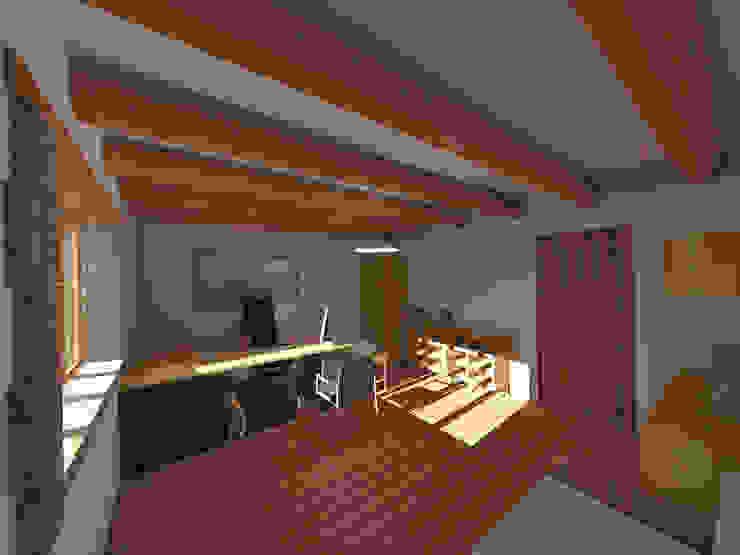 Estudio de ROQA.7 ARQUITECTURA Y PAISAJE Rústico Madera Acabado en madera