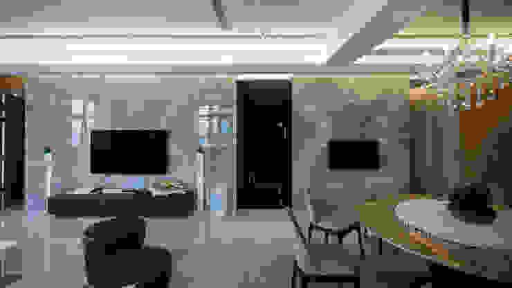 BRAVO INTERIOR DESIGN & DECO KUAN STYLE 璞碩室內裝修設計工程有限公司 现代客厅設計點子、靈感 & 圖片