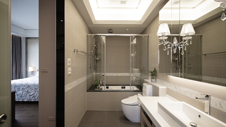 BRAVO INTERIOR DESIGN & DECO KUAN STYLE Modern bathroom by 璞碩室內裝修設計工程有限公司 Modern