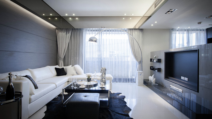 BRAVO INTERIOR DESIGN & DECO CHIC II STYLE 现代客厅設計點子、靈感 & 圖片 根據 璞碩室內裝修設計工程有限公司 現代風