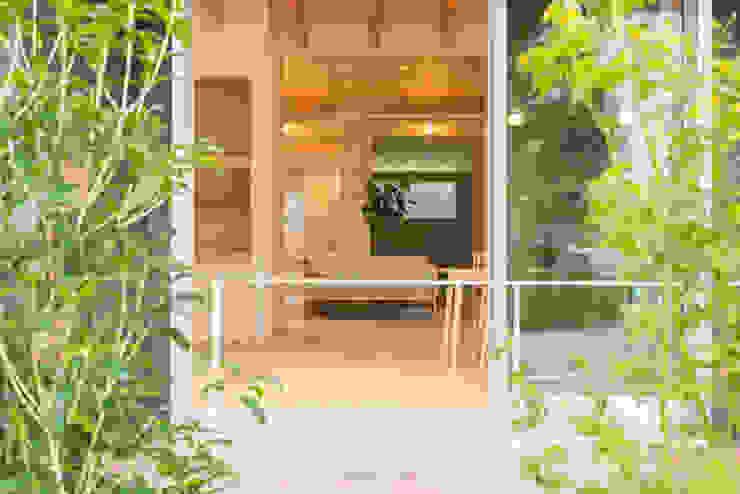 m+h建築設計スタジオ Modern style gardens Wood