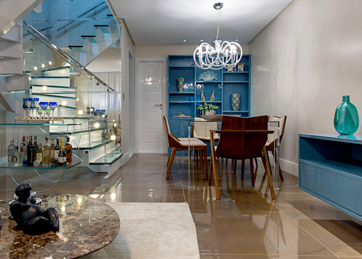 Dining room by Milla Holtz & Bruno Sgrillo Arquitetura, Modern