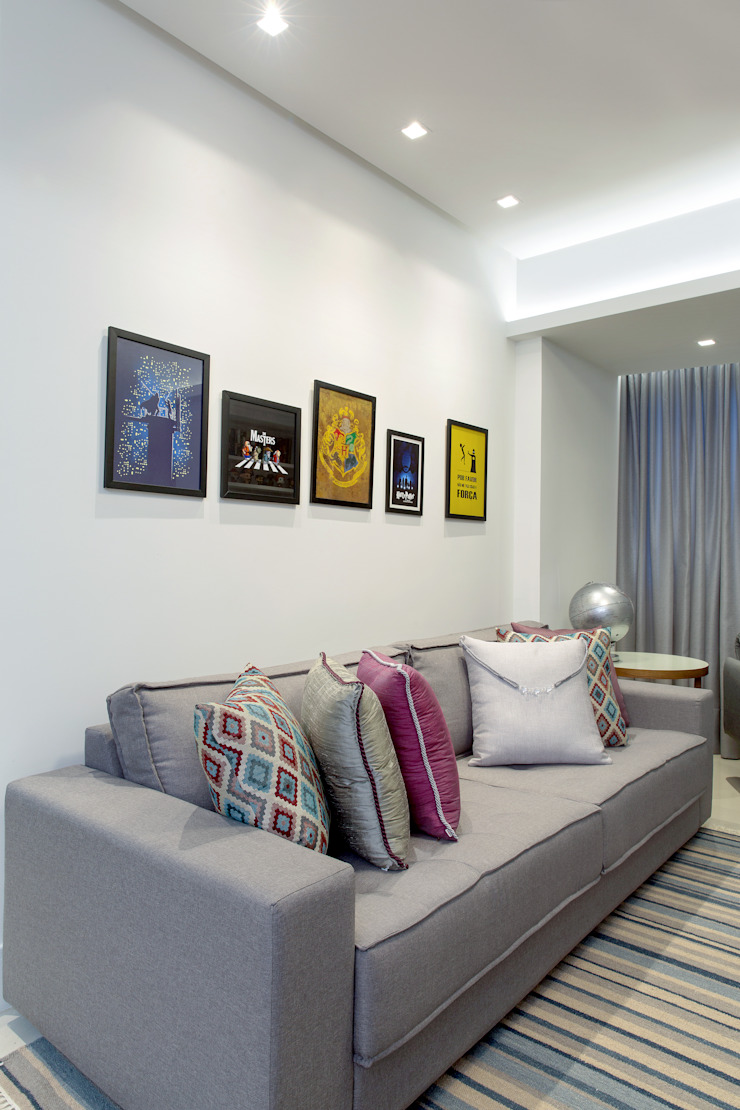Salones de estilo moderno de Milla Holtz & Bruno Sgrillo Arquitetura Moderno