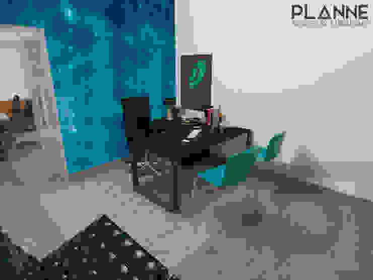 Meu Universo Virtual - Recepção Lojas e Espaços comerciais modernos por Planne Arquitetura & Urbanismo Moderno