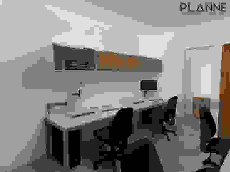 Meu Universo Virtual - Área de trabalho Lojas e Espaços comerciais modernos por Planne Arquitetura & Urbanismo Moderno