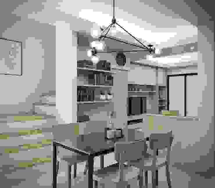 Town home renovation: สแกนดิเนเวียน  โดย The guidelines design studio, สแกนดิเนเวียน ไม้ Wood effect