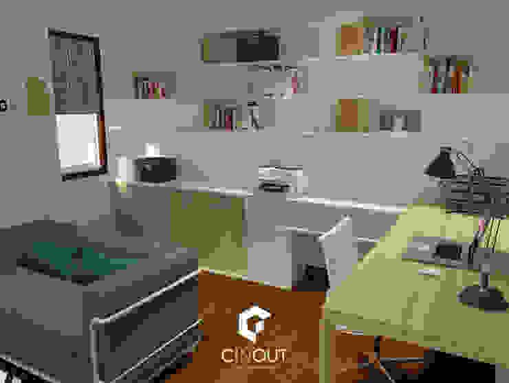 Escritório Apartamento CINOUT - Obras, Design e Manutenção Lda. Escritórios modernos