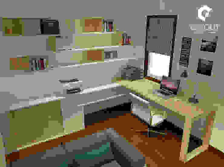 Escritório Apartamento por CINOUT - Obras, Design e Manutenção Lda. Moderno