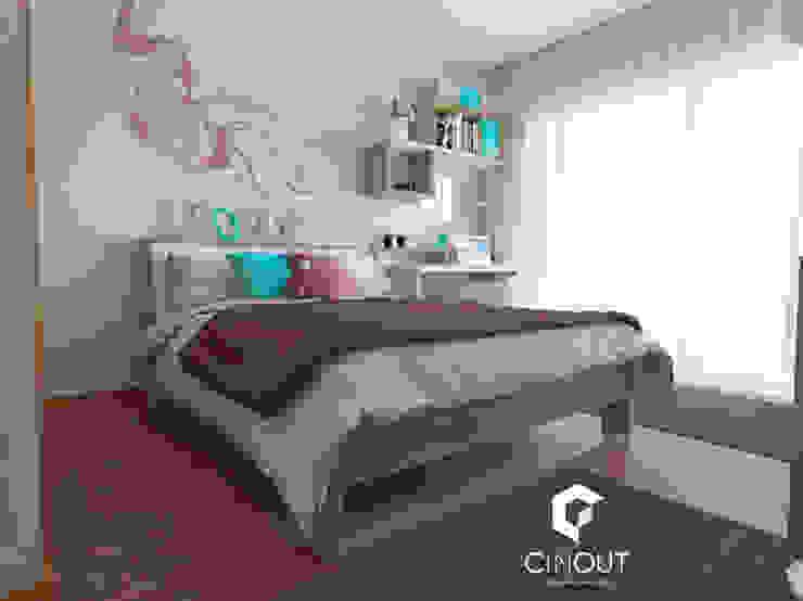 Remodelação de Quarto Infantil Quartos modernos por CINOUT - Obras, Design e Manutenção Lda. Moderno
