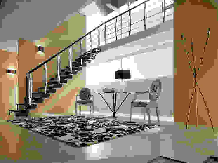KNOCK PASAMANOS MINIMAL RINTAL Vestíbulos, pasillos y escalerasEscaleras Madera maciza Acabado en madera