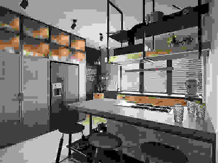razoo-architekci オリジナルデザインの キッチン