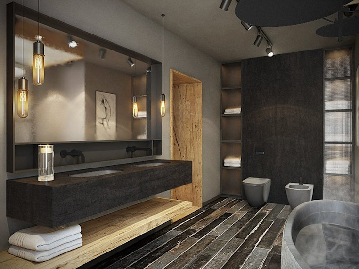 razoo-architekci オリジナルスタイルの お風呂