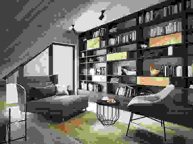 razoo-architekci オリジナルスタイルの 寝室