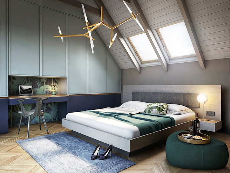 Eclectic style bedroom by razoo-architekci Eclectic