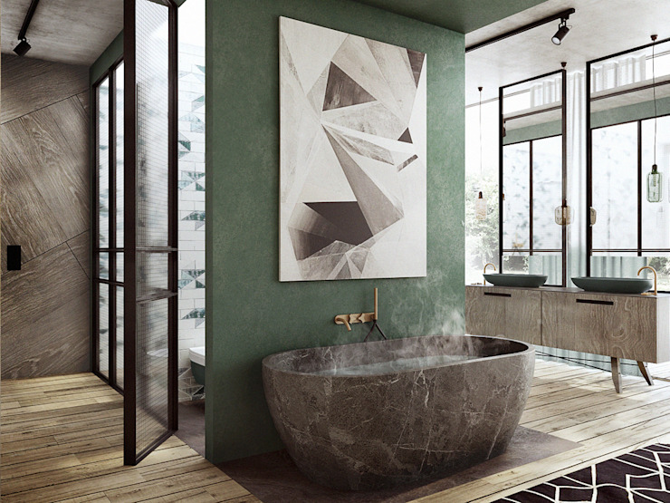 Baños de estilo ecléctico de razoo-architekci Ecléctico