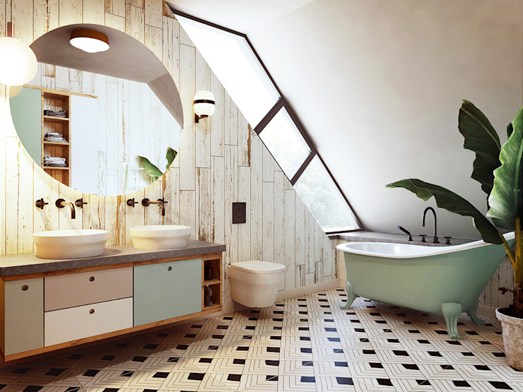 Eclectic style bathroom by razoo-architekci Eclectic