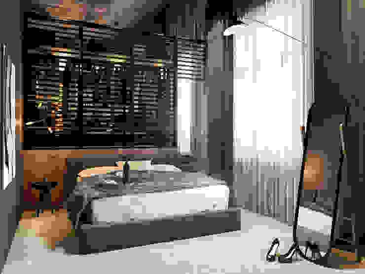 Eclectic style bedroom by razoo-architekci Eclectic