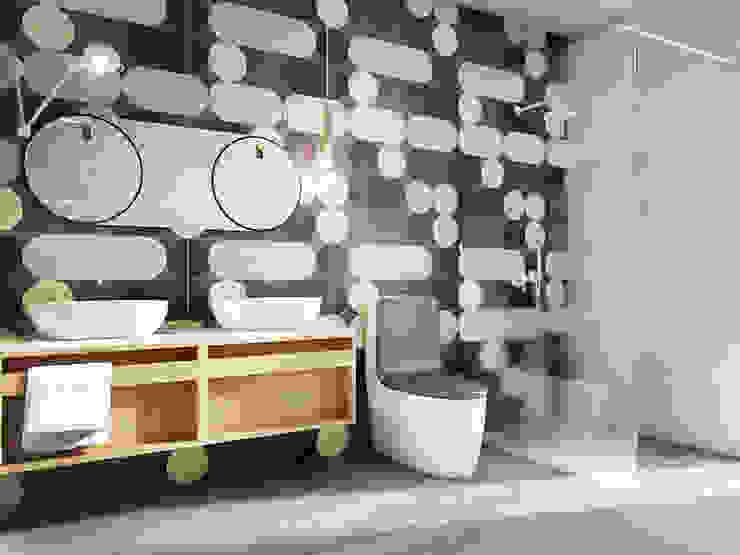 Eclectic style bathroom by razoo-architekci Eclectic