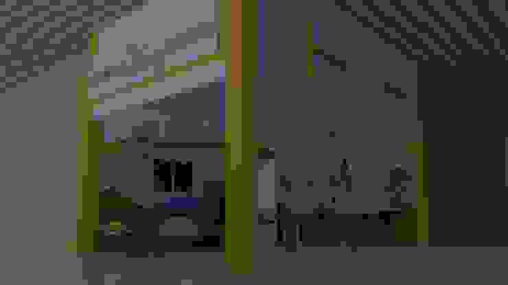 Apunte perspectivo del proyecto Centros comerciales de estilo minimalista de M4X Minimalista Tablero DM