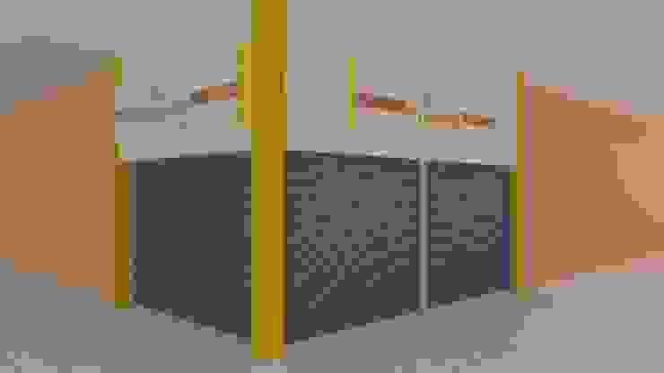 Apunte perspectivo Centros comerciales de estilo minimalista de M4X Minimalista Tablero DM