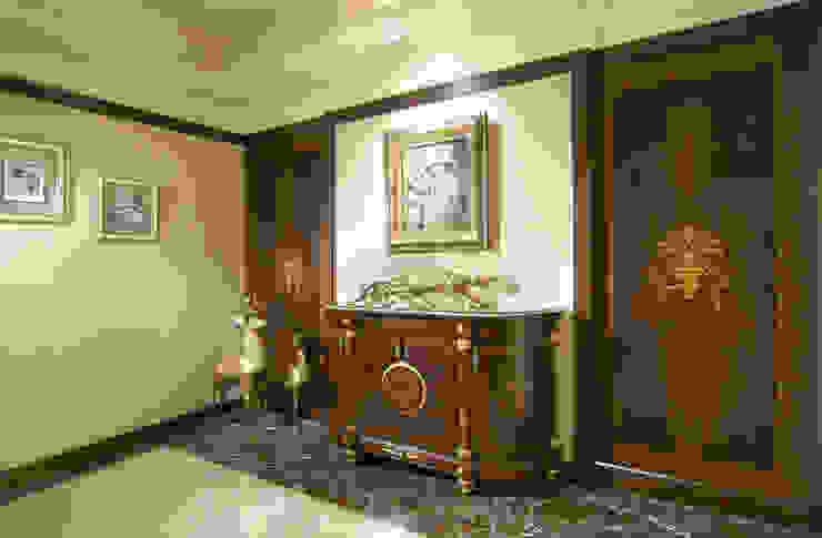 地中海異國風 地中海走廊,走廊和楼梯 根據 傑德空間設計有限公司 地中海風 刨花板
