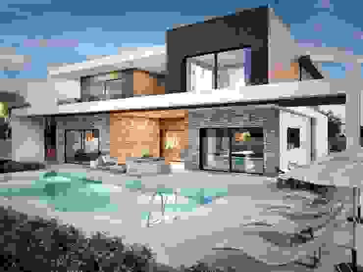 現代房屋設計點子、靈感 & 圖片 根據 VERO CONCEPT MİMARLIK 現代風