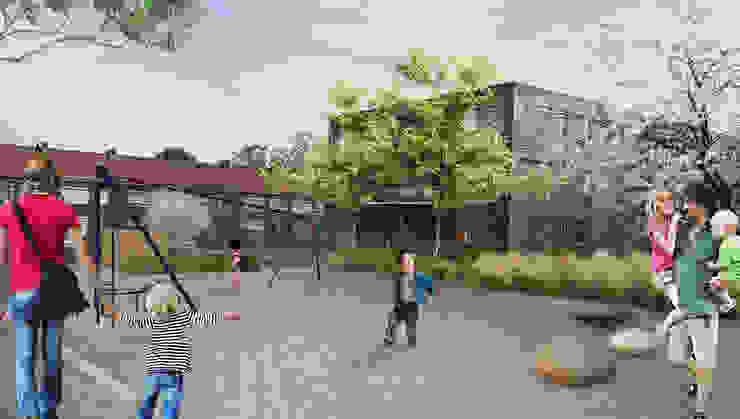 Speelplein: modern  door GroenerGras Hoveniers Eindhoven, Modern