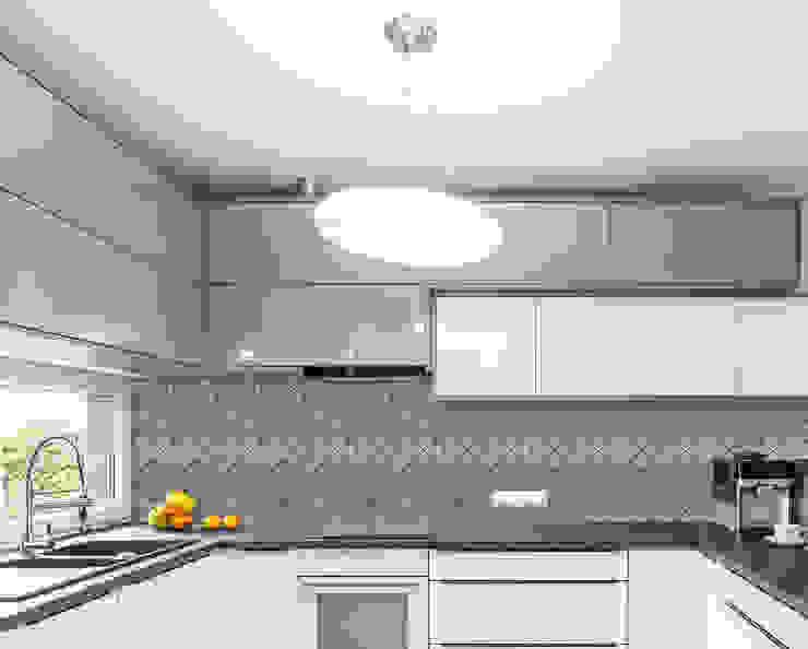 Brushed Nickel Tile, Prisma Modern Kitchen by Elalux Tile Modern Iron/Steel