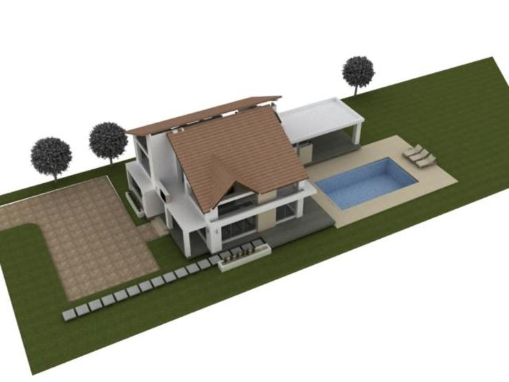Casa campestre Chinauta Jardines de estilo tropical de no aplica Tropical