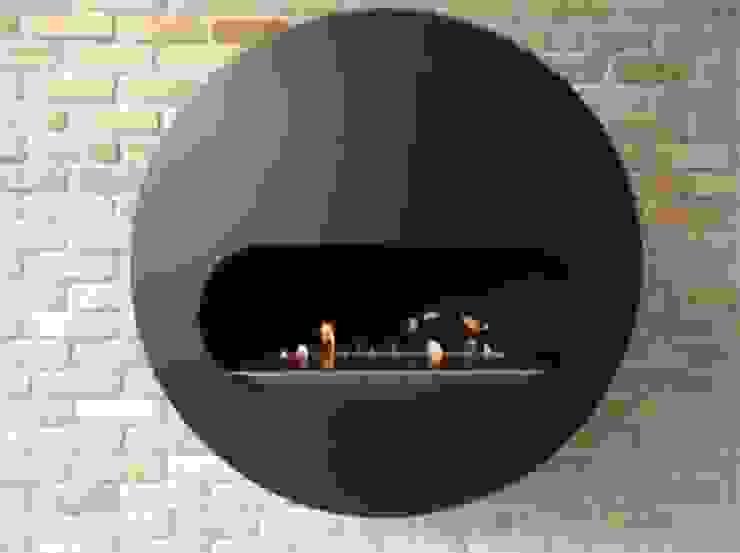 Delux Range: modern  by EcoFlames, Modern Iron/Steel