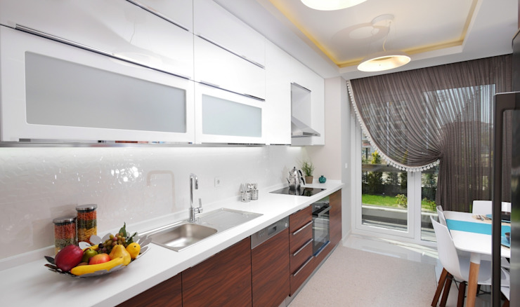 TrioParkKonut Çorlu – Örnek Daire Modern Mutfak MAG Tasarım Mimarlık Modern