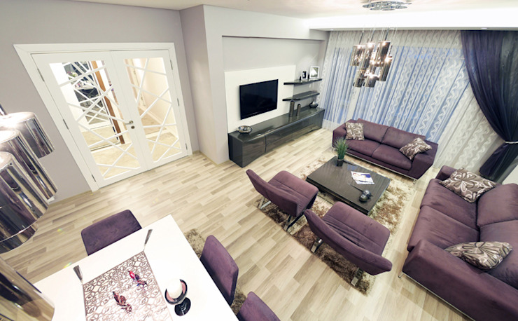TrioParkKonut Çorlu - Örnek Daire Modern Oturma Odası MAG Tasarım Mimarlık Modern