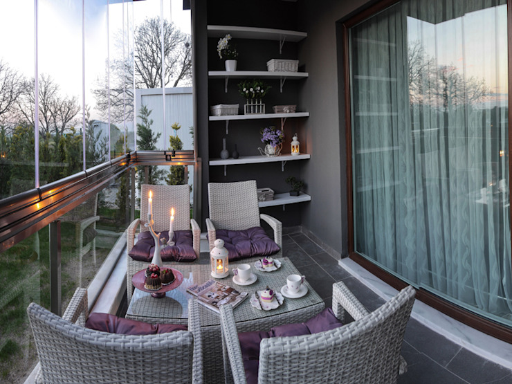 Terrace by MAG Tasarım Mimarlık İnşaat Emlak San.ve Tic.Ltd.Şti., Modern
