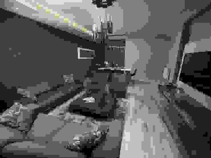 TrioParkKonut Çorlu – Örnek Daire Modern Oturma Odası MAG Tasarım Mimarlık Modern