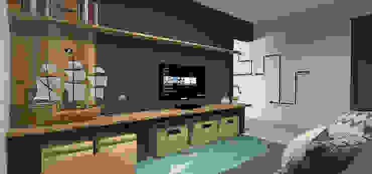 Sala de TV Salas de estar industriais por Designare Ambientes Industrial