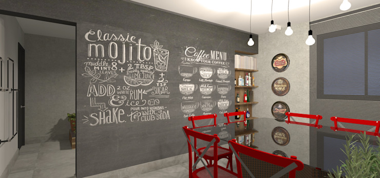 Designare Ambientes Industrial style dining room