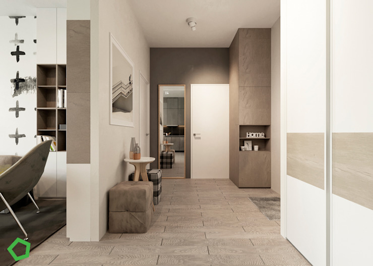 Corridor Modern Corridor, Hallway and Staircase by Polygon arch&des Modern