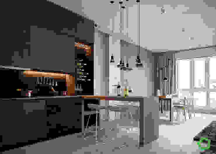 Moderne Küchen von Polygon arch&des Modern
