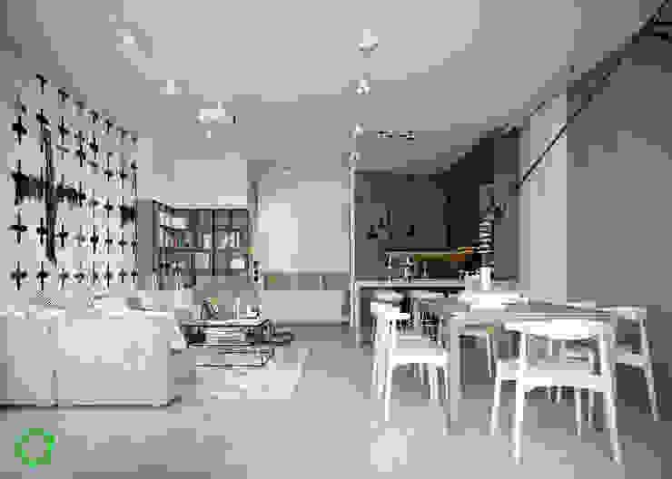 Living room Modern Living Room by Polygon arch&des Modern