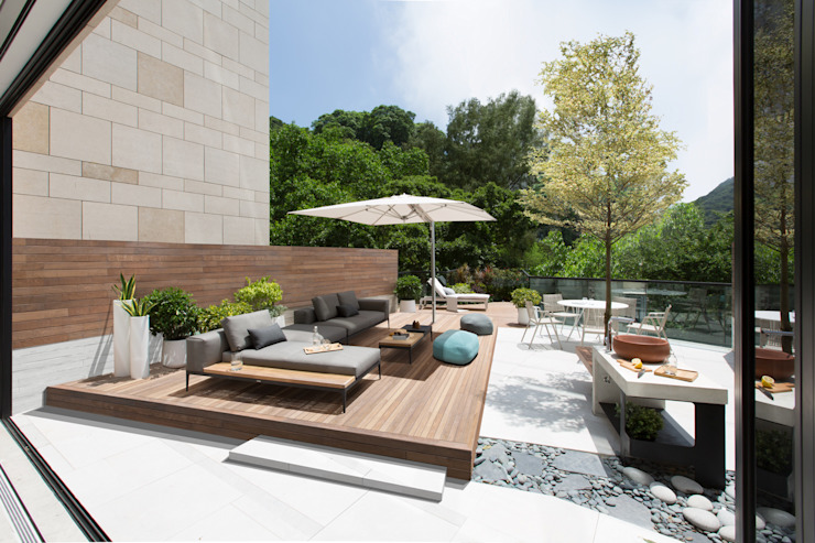 Jump into the Garden Modern garden by Sensearchitects Limited Modern Wood Wood effect